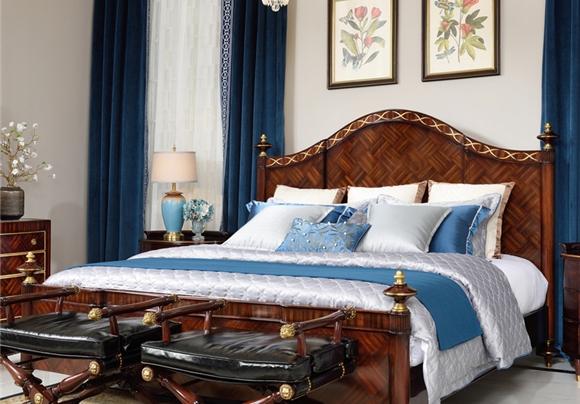 亚历山大家具 卧室套装 英式古堡 皇室卧室套装